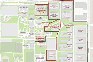 Campus Map of Project Locations