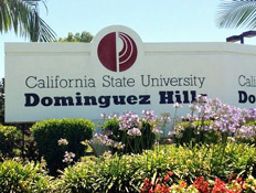 CSUDH Sign on Victoria St.