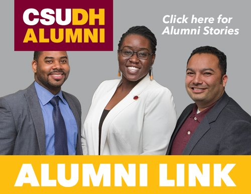 Three alumni linking to Alumni Link newsletter