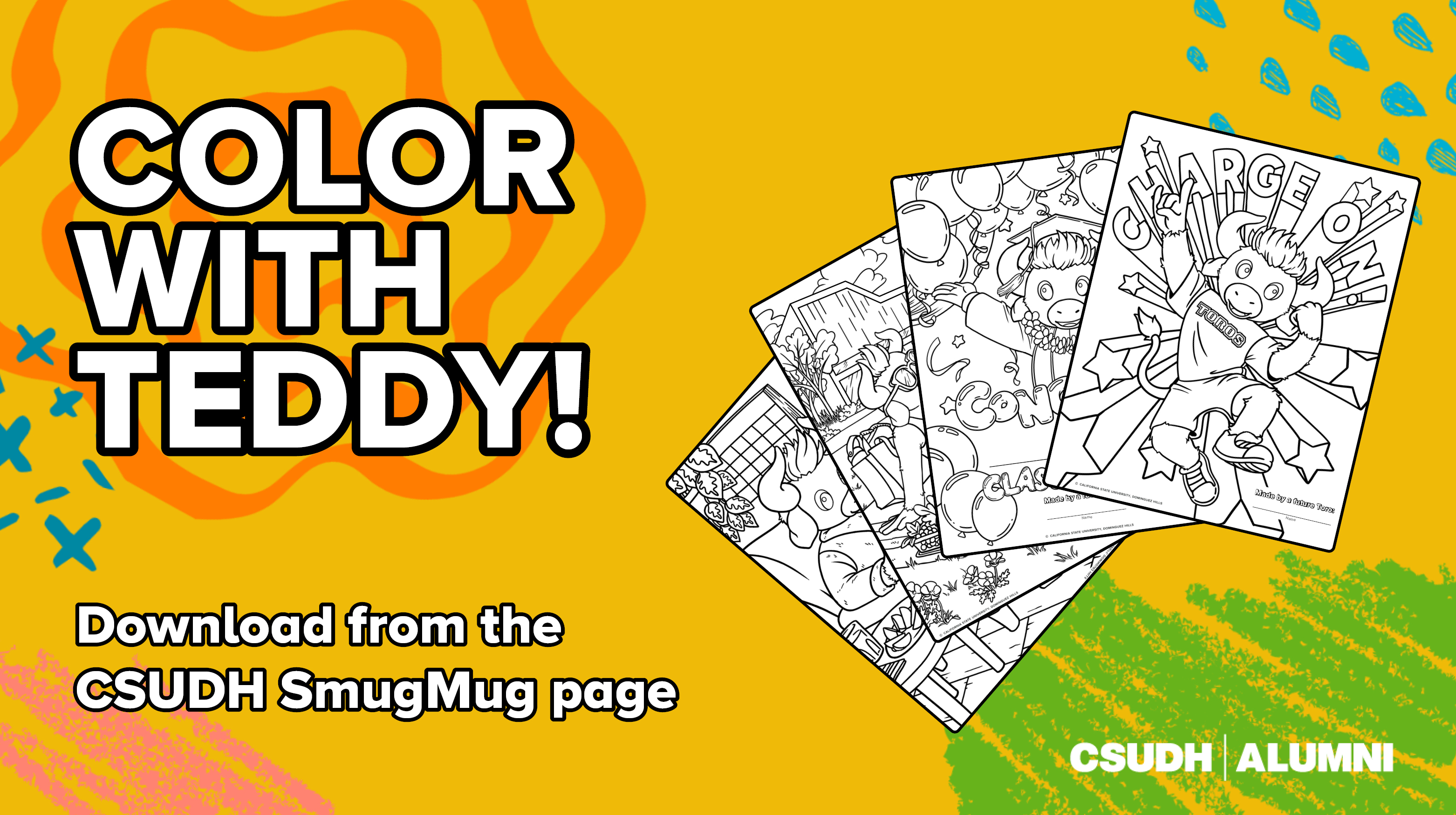 Teddy the Toro coloring pages preview