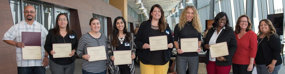 CSUDH Advisors presenting certificates for Outstanding Academic Advisors