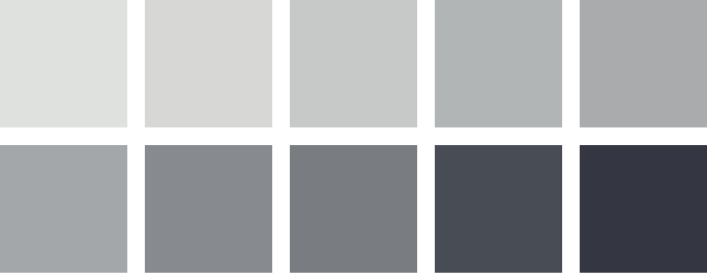 CSUDH Branding Color swatches range of cool grays