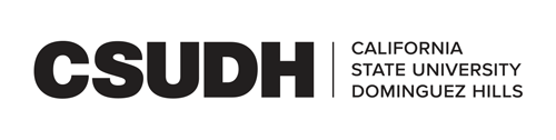 CSUDH black horizontal logo on white background