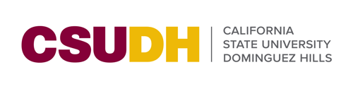 CSUDH colored horizontal logo on white background