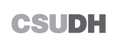 CSUDH grayscale logo mark on light background