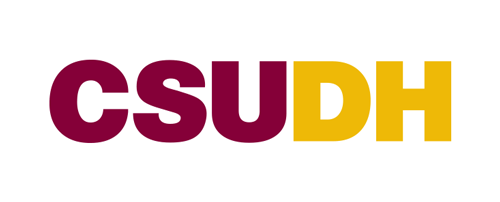 CSUDH color logo mark on white background
