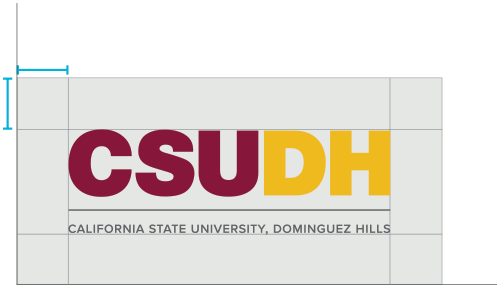csudh logo usage - allow 0.35 inches of minimum clear space around the logo.