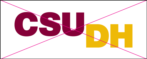 csudh logo misuse. Do not rearrange the elements.