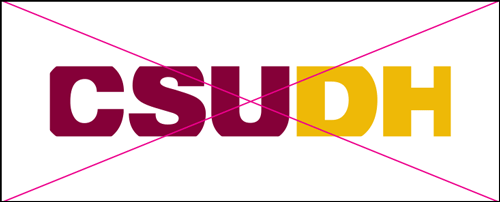 csudh logo misuse. Do not crop the logo.
