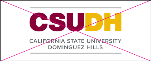 csudh logo misuse. Do not add or remove elements.