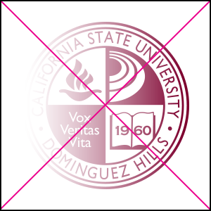 university seal misuse. Do not use gradients, overlays, or other color effects.