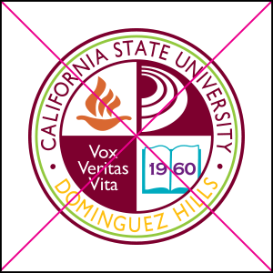 university seal misuse. Do not change or add colors.