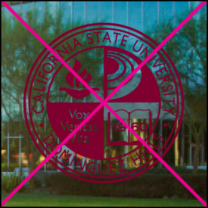 university seal misuse. Do not place over complex photos, textures or unapproved colors.