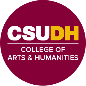 CSUDH endorsed round social media icon for College of Arts and Humanities