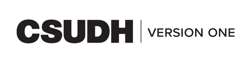 CSUDH endorsed logo one line black text on white background