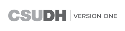 CSUDH endorsed logo one line grayscale text on white background