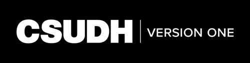 CSUDH endorsed logo one line white text on black background