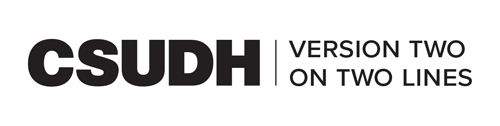 CSUDH endorsed logo two lines horizontal black text on white background