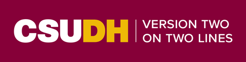 CSUDH endorsed logo two lines horizontal white and yellow text on burgundy background