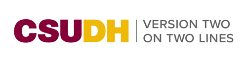 CSUDH endorsed logo two lines horizontal colored text on white background
