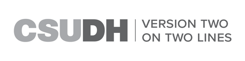 CSUDH endorsed logo two lines horizontal grayscale text on white background