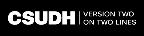 CSUDH endorsed logo two lines horizontal white text on black background