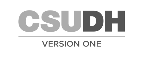 CSUDH endorsed logo stacked centered one line grayscale text on white background