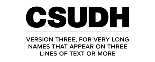 CSUDH endorsed logo stacked centered three lines black text on white background