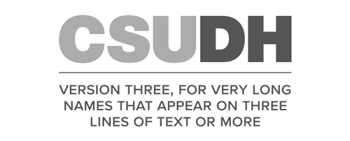 CSUDH endorsed logo stacked centered three lines grayscale text on white background