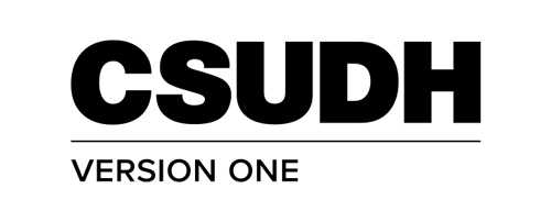 CSUDH endorsed logo stacked left aligned 1 line black text on white background