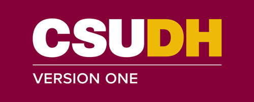CSUDH endorsed logo stacked left aligned 1 line white and yellow text on burgundy background