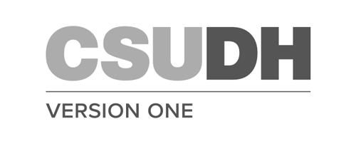 CSUDH endorsed logo stacked left aligned 1 line grayscale text on white background