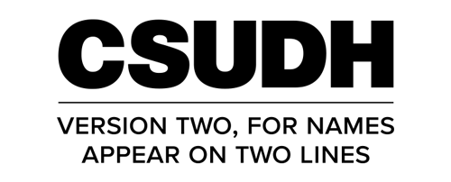 CSUDH endorsed logo stacked centered two lines black text on white background