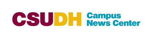 CSUDH co-branded logo example. CSUDH Campus news center.