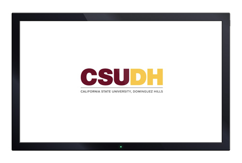 CSUDH video sample screenshot  - opening animated bumper