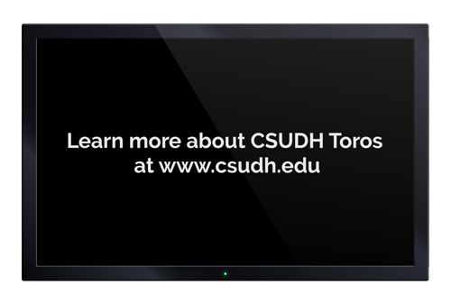 CSUDH video sample screenshot - call to action
