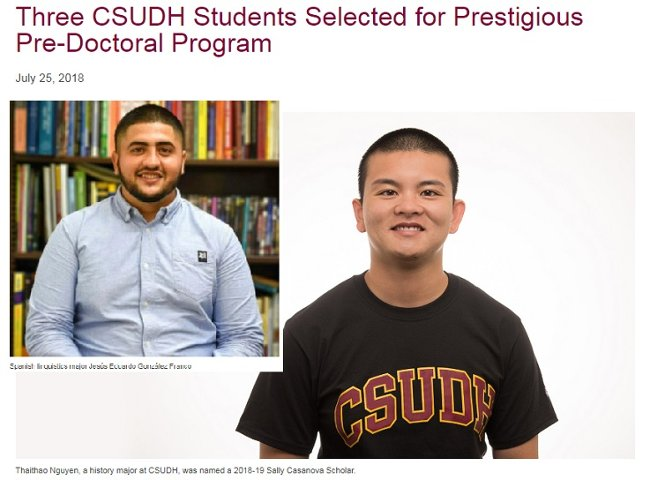 CAH Highlights CSUDH News