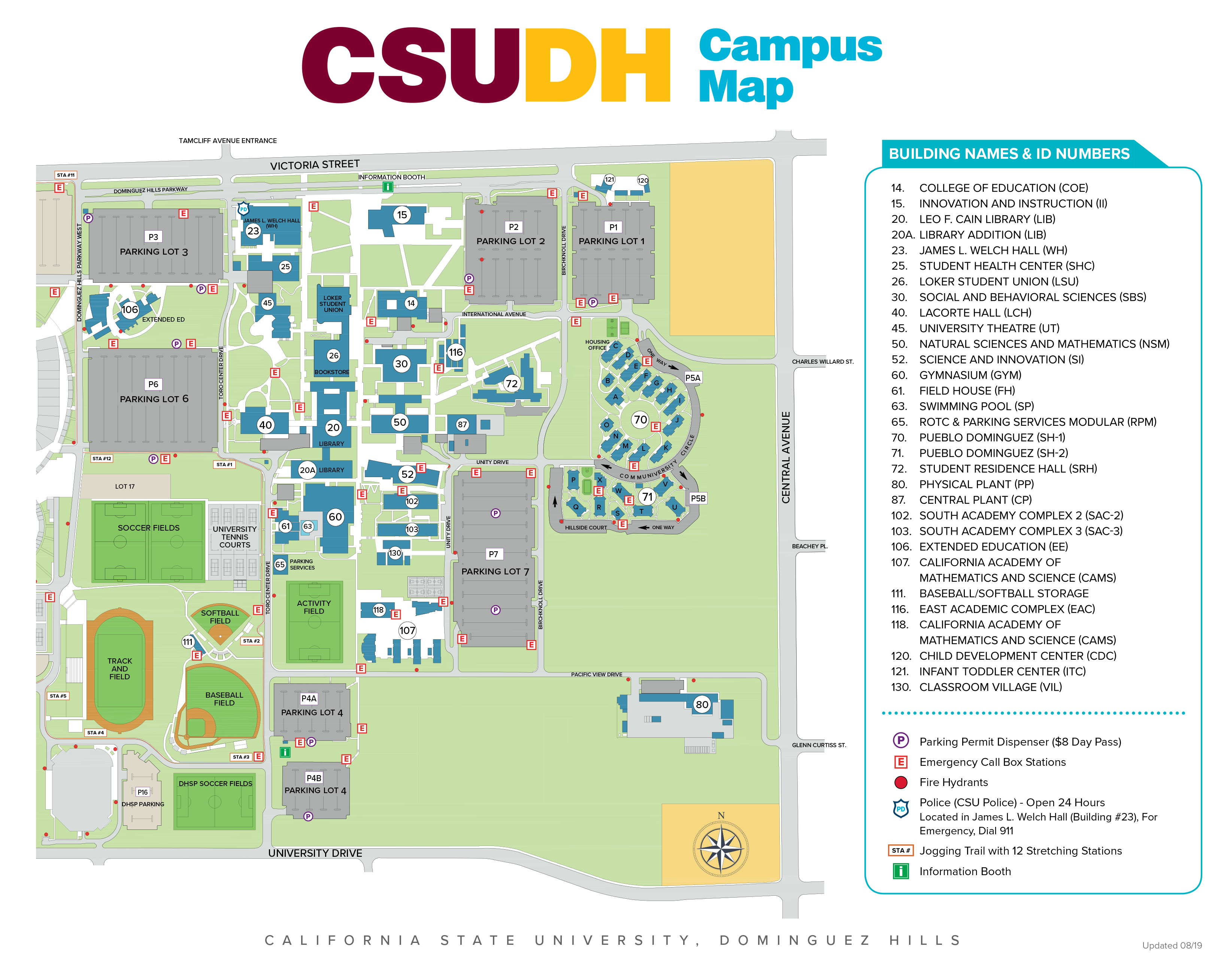 2019 Aug Campus Map (Click to enlarge)