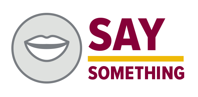 say something (with mouth icon image)