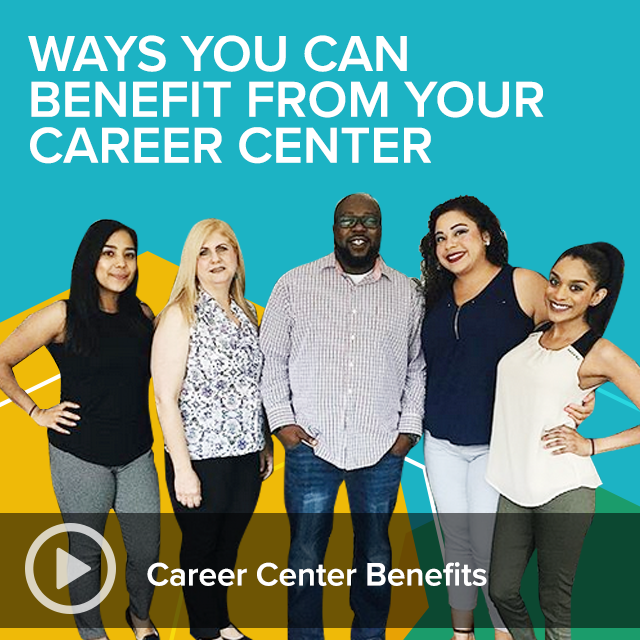 Career Spots Video - Career Center Benefits