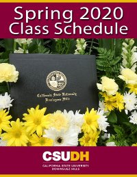 Spring 2020 Class Schedule Cover