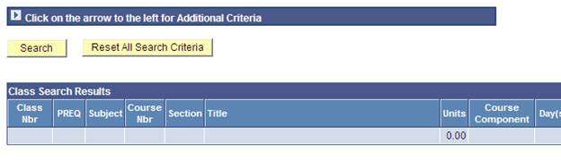 Screenshot of Access To Additional Criteria