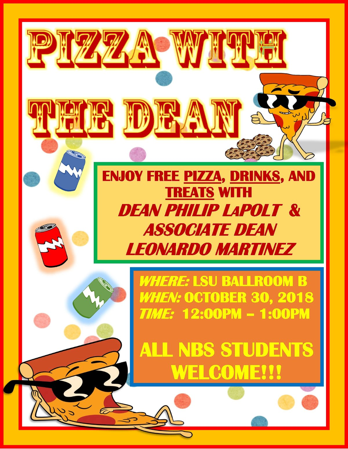 Pizza With the Dean Oct 2018