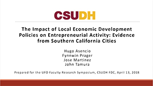 The Impact of Local Economic Development Policy on Entrepreneurial Activity