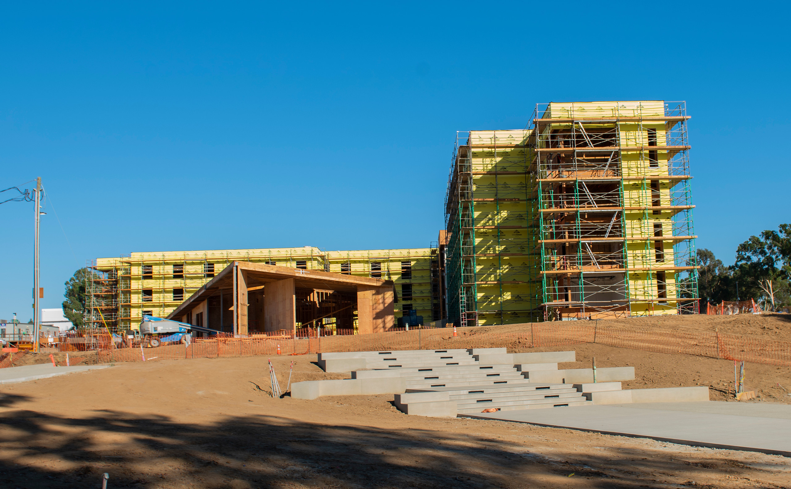 student housing complex progress october 2019