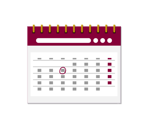 Important deadlines and schedule icon