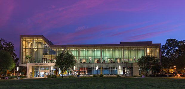 Loker Student Union at Dusk