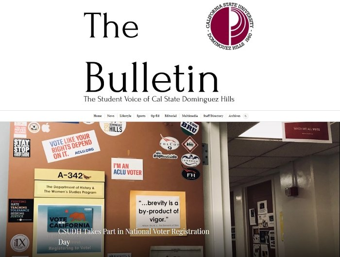 CSUDH History The Bulletin Article Voting!