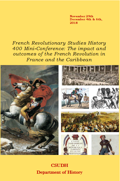French Revolutionary Studies History 400 Mini-Conference Fall 2018 Talamante