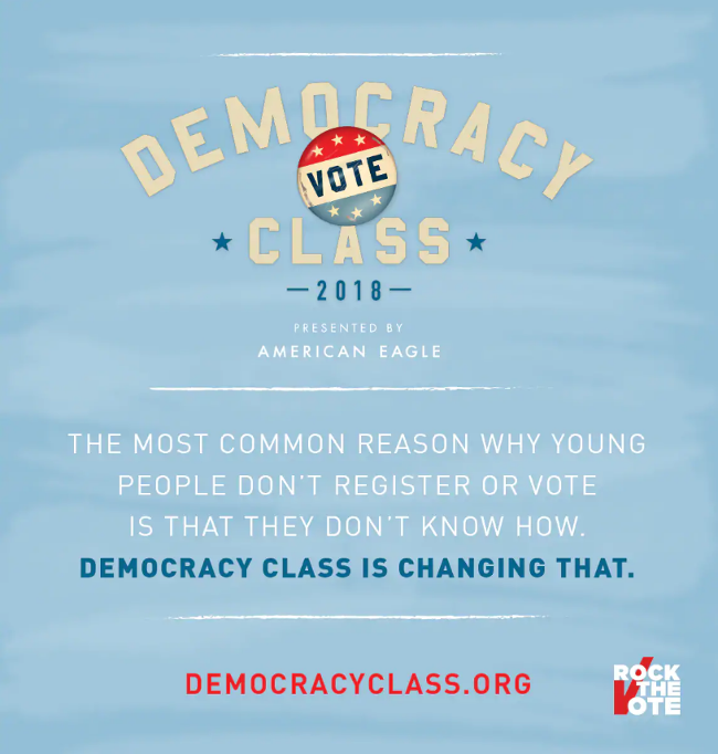 Democracy Class Vote 2018 Link CSUDH History